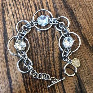 WHBM, NWT, Silver Rhinestone bracelet